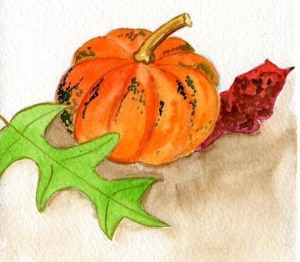 Pumpkin & Leaves