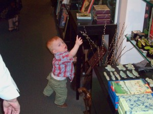Duncan at The Walters\' gift shop