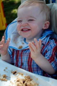 Duncan Eating Cake