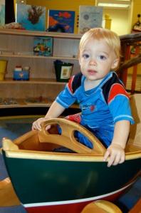 """Owen in the """"rocking"""" boat"""