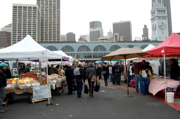 Market with Ferry Building in the background