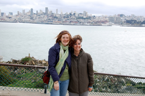 San Francisco is in the background