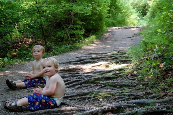 Taking a break on the trail.