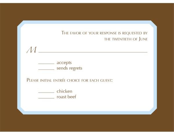 Response postcard
