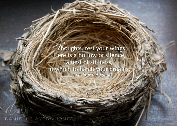 Thoughts rest your wings